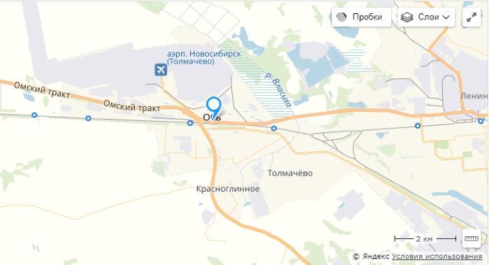 Отделение Толмачево АОПП ММПО PI-1 на карте