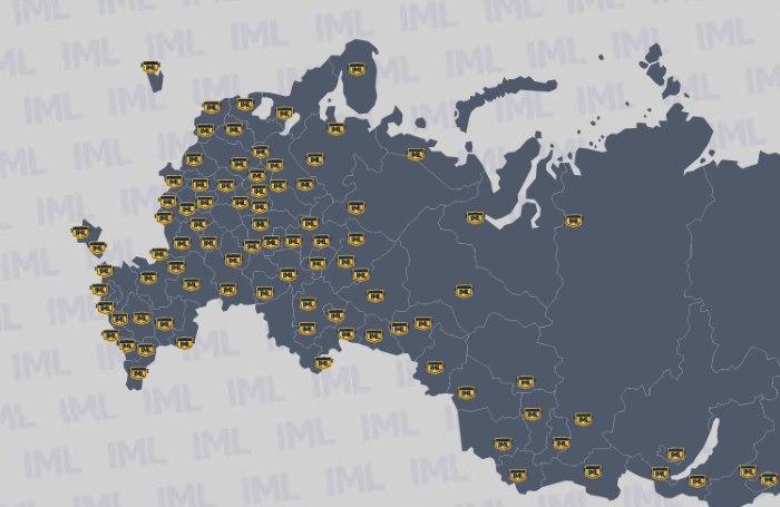 Карта складов IML