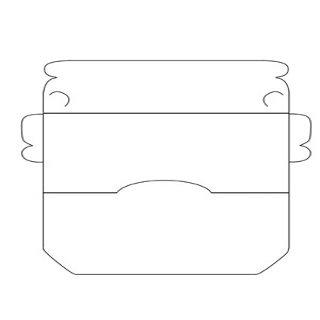 Шаблон для лэпбука фигурный конверт