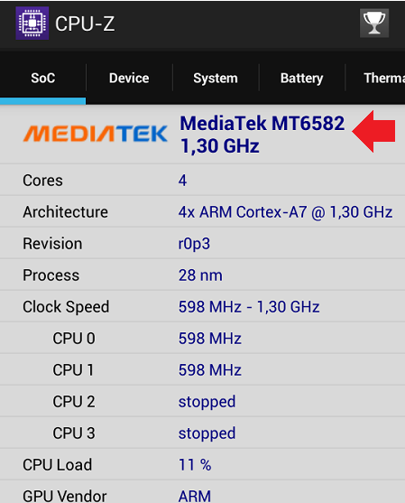 Android CPU-Z