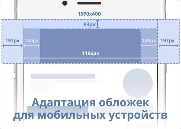Обложка группы ВК на мобильном