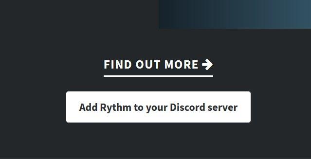 Кнопка добавления бота Rhythm