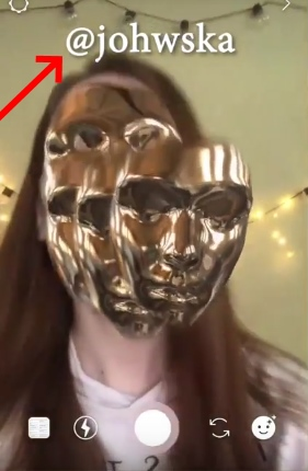 Золотистая маска в Инстаграм