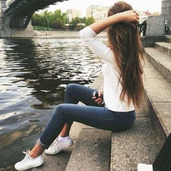 Фото девушки русые волосы на аву 6
