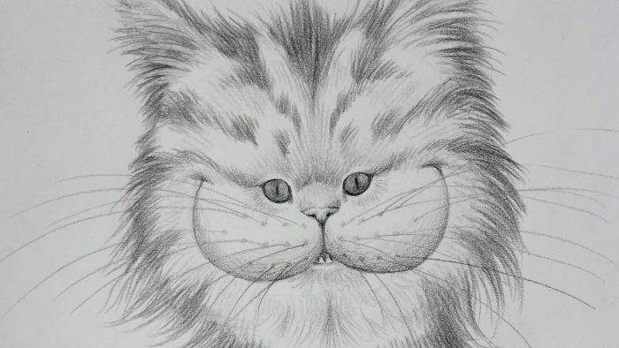 Рисунок чеширского кота