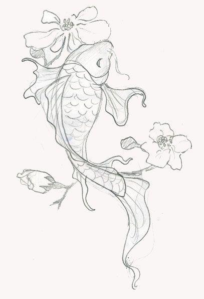 Рисунок золотой рыбки