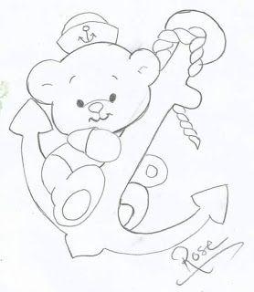 Рисунок мишки с якорем