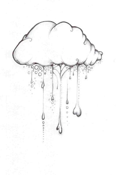 Облако с дождём сердечками