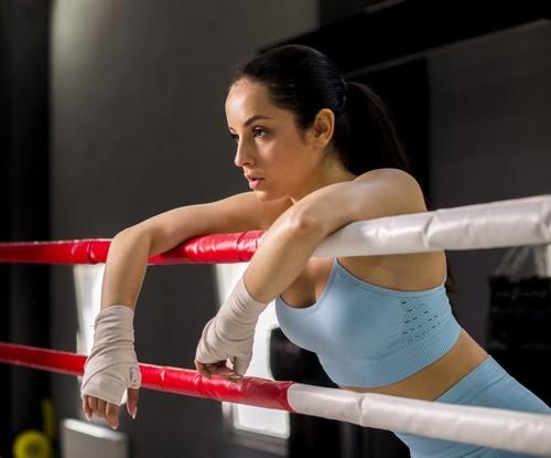 девушка боксёр