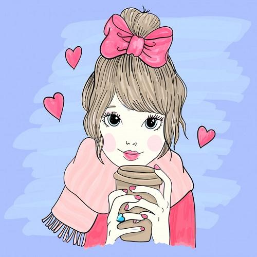 Девушка с баночкой кофе