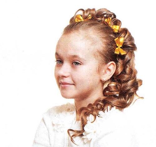 Прическа на длинные волосы для девочки