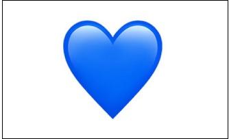 Синее сердце ВК