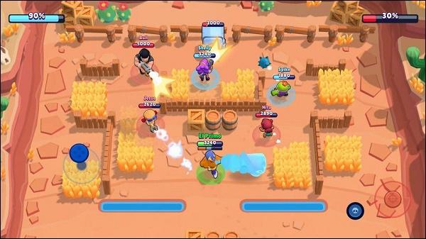 Brawl Stars геймплей