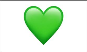 Зелёное сердечко
