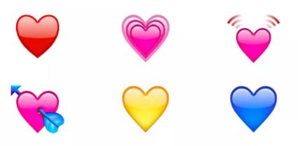 Цветные сердечки ВК