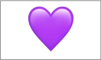 Фиолетовое сердечко ВК