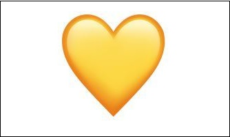 Жёлтое сердечко ВК