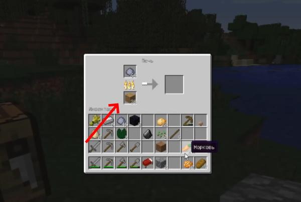 Создание кирпича в печи в Minecraft