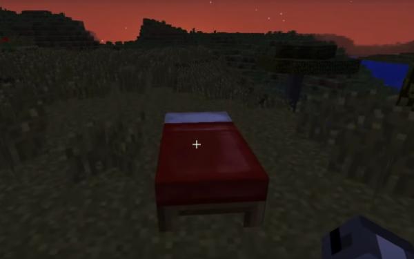 Готовая кровать в Minecraft