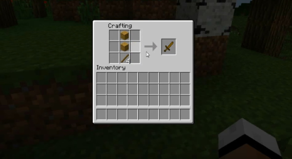 Крафт меча в Minecraft