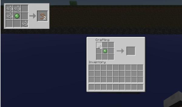 Крафт поводка в Minecraft