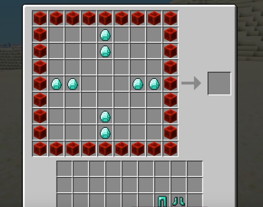 Разместите алмазы