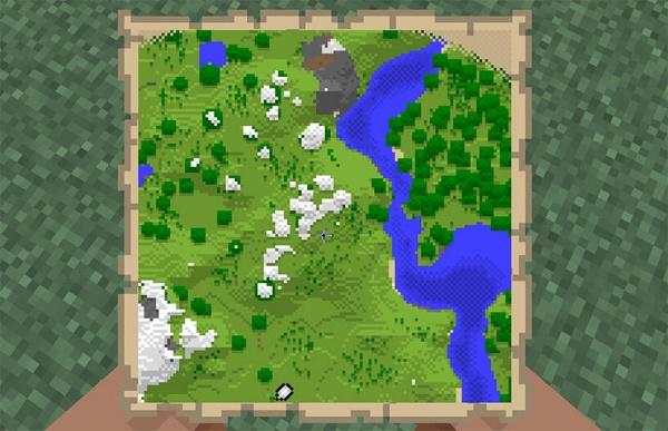 Карта местности Майнкрафт