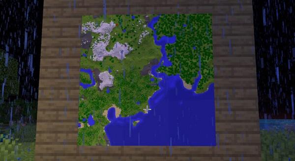 Карта на стене Майнкрафт