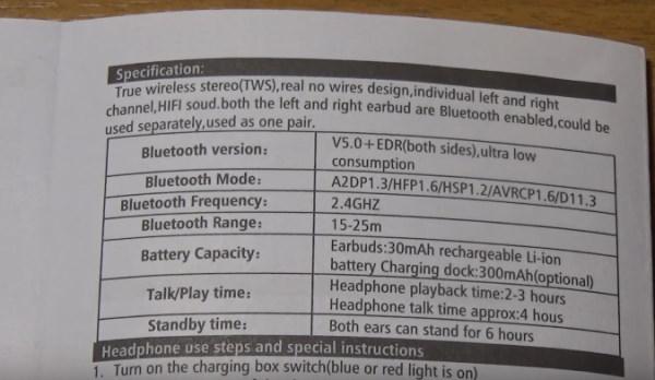Параметры i11 TWS