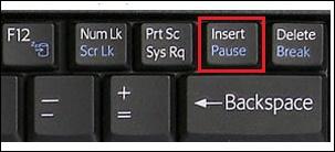 """Клавиша """"Insert"""" на ноутбуке"""