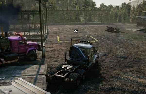 Стоянка грузовиков Snowrunner