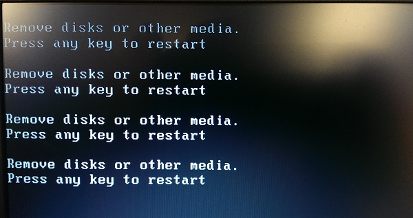 Remove Disk or other media
