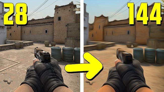 Разница в количество FPS