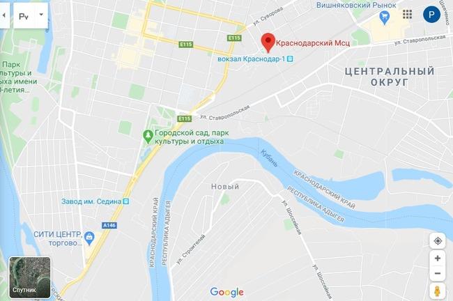 МСЦ на карте города