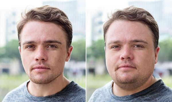 Пример худого и толстого парня