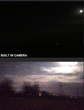 Съёмка ночного неба в приложении