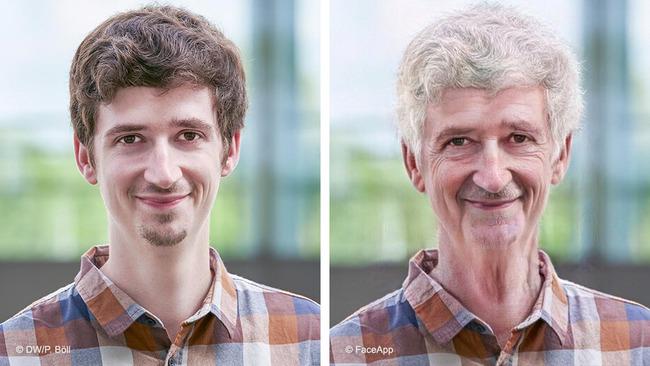 Снимок мужчины и его более старая версия
