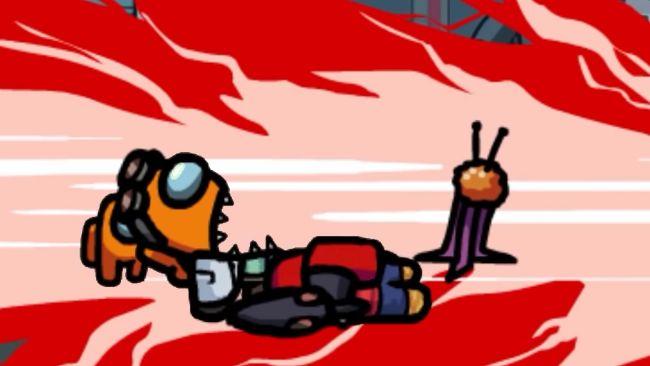 Скриншот из игры с реакцией Сквика на смерть хозяина