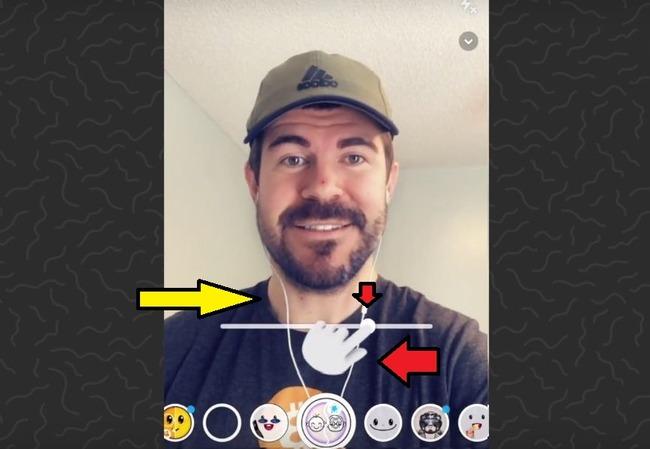 Ползунок от Машины Времени в Snapchat