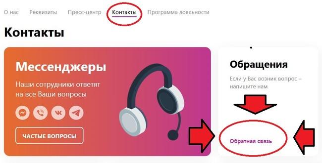 Создание неофициального запроса в Контактах компании