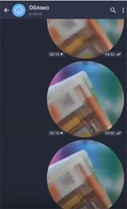Круглое видео в Телеграмм
