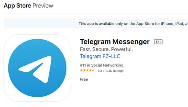 Телеграмм в App Store