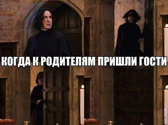 Мем - когда к родителям пришли гости