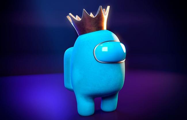 3D модель бирюзового крюмейта в короне