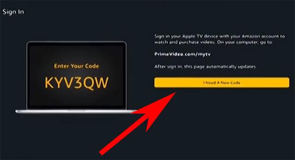 Кнопка для получения кода