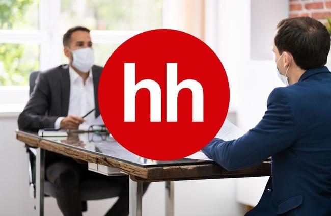 Лого компании на фоне двух людей в масках