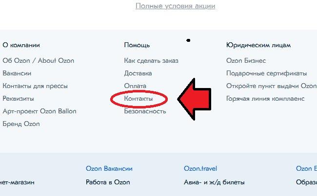 Линк на Контакты с поддержкой ресурса