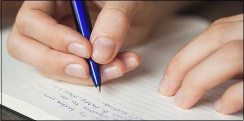 Фото письма на листе
