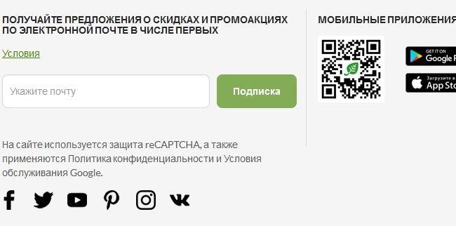 Скриншот блока для оформления подписки