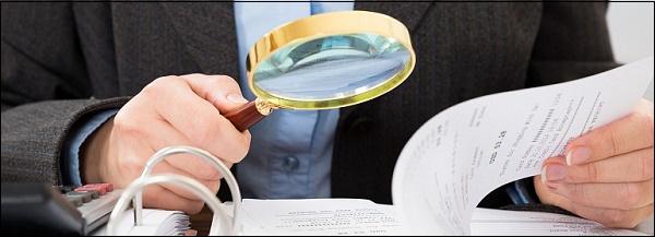 Иллюстрация проверка документов